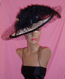 picture hat ostrich plume feather