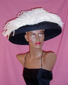 ostrich plume hat millinery
